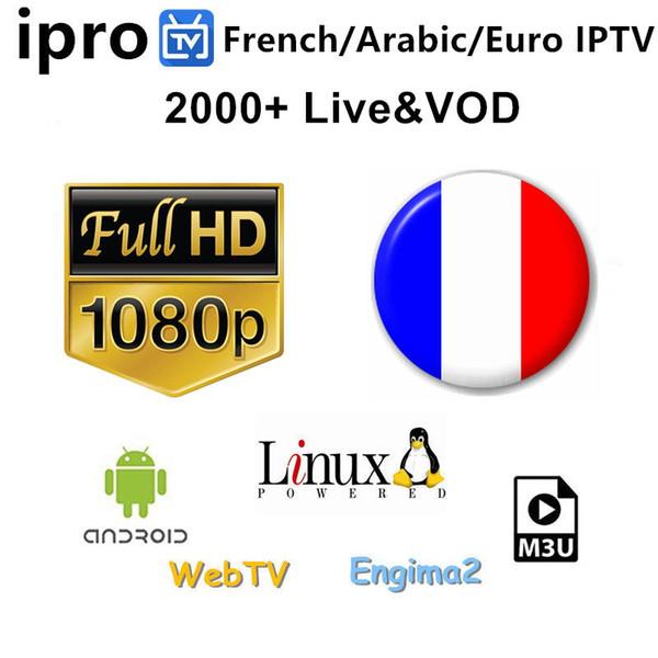 IPROTV IPTV 2100+ Kanäle unterstützen Smart TV Live Android TV-Box 1 Jahr IPTV für Europa / Arabisch / Afrika / Französisch / Nordamerika / Großbritannien