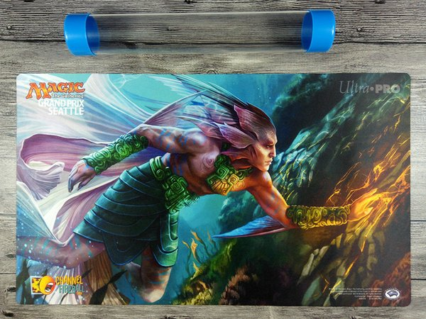 2018 Grand Prix Seattle Playmat Custom For Magic The Gathering Mat Free  Tube Game Cards Online Playing Cards Games Online From Stxu, $30 04|