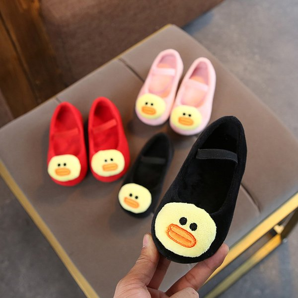good quality Cute Baby Girls Shoes Infant Toddler Cartoon 3D Duck Princess Warm kids girls Shoes Sneakers chaussure enfant sapato