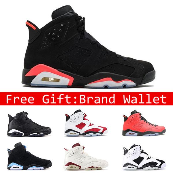 2020 Hot Sale 6 6s Mens Basketball Shoes INFRARED UNC MAROON BLACK CAT CARMINE Oreo Red Men Designer Trainer Shoe Sports Sneakers Size 41 47 From