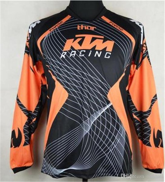 KTM Motocross jerseys T shirts OFF ROAD motorcycle Bicycle Cycling Jerseys Breathable Sweatshirt MTB Downhill jersey Quick Dry