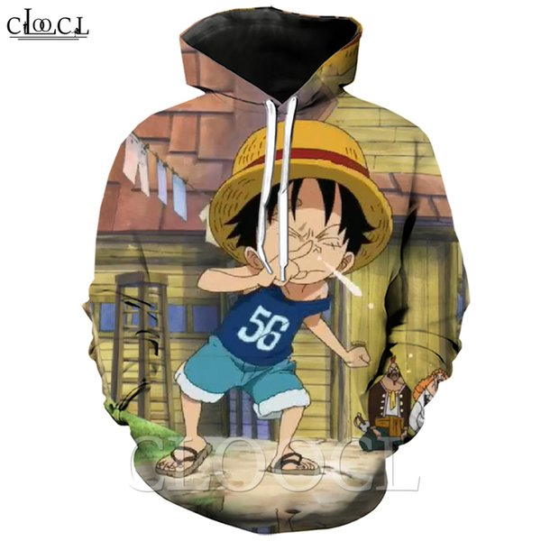 2020 new style one piece monkey d. luffy men women 3d print japan anime couples wild creative casual streetwear hooded