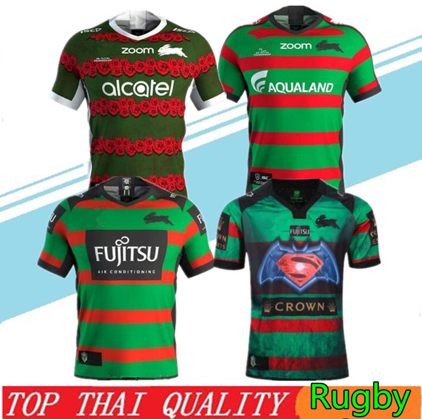 best selling New 2019 2020 South Sydney Rabbitohs football shirt 18 19 20 ANZAC rugby Jerseys shirt Australia rugby shirts