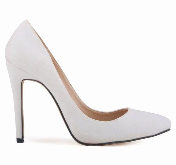 Women Pumps Fashion Classic Patent Leather High Heels Shoes Nude Sharp Head Paltform Wedding Women Dress Shoes Plus Size 35-42