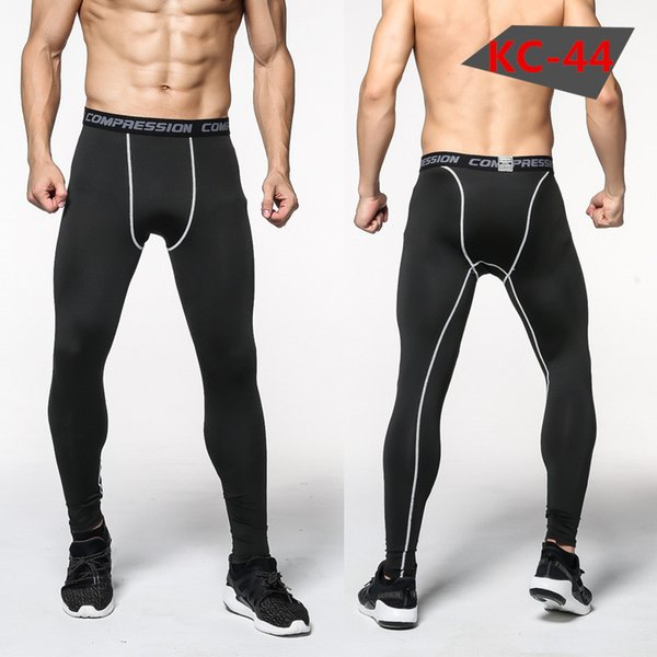 2018 men compression base layer running pants training leggings fitness gym sports basketball tights quick dry breathable thumbnail