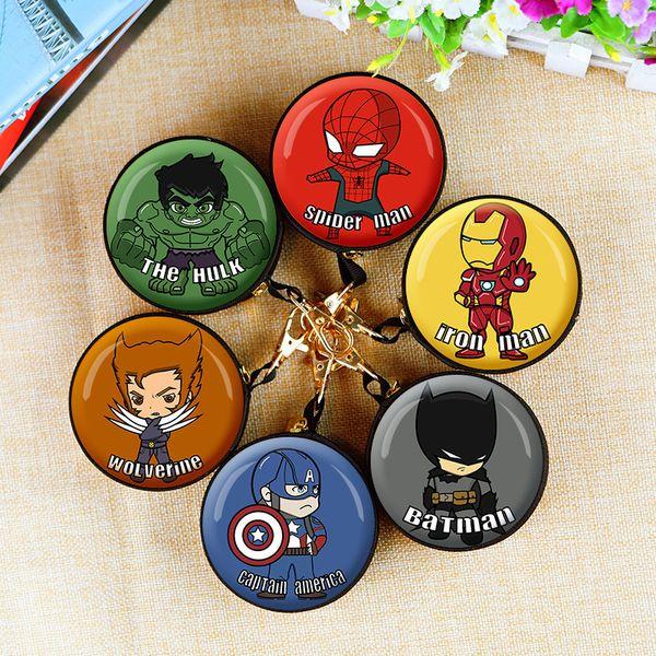 The Avengers Portamonete Capitan America Iron-man Spider-Man e League of Legends Portamonete fermasoldi porta monete portafogli giocattoli per bambini