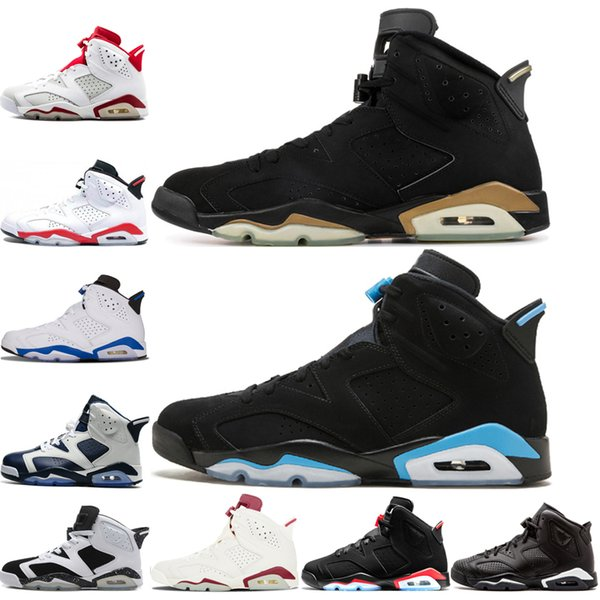 Nike air Jordan retros 6 havaretrolarÜrdün6 Basketbol ayakkabıları erkekler üst Olimpiyat Oreo Spor Mavi DMP Kızgın boğa Beyaz Siyah Infared Atletik Sneakers