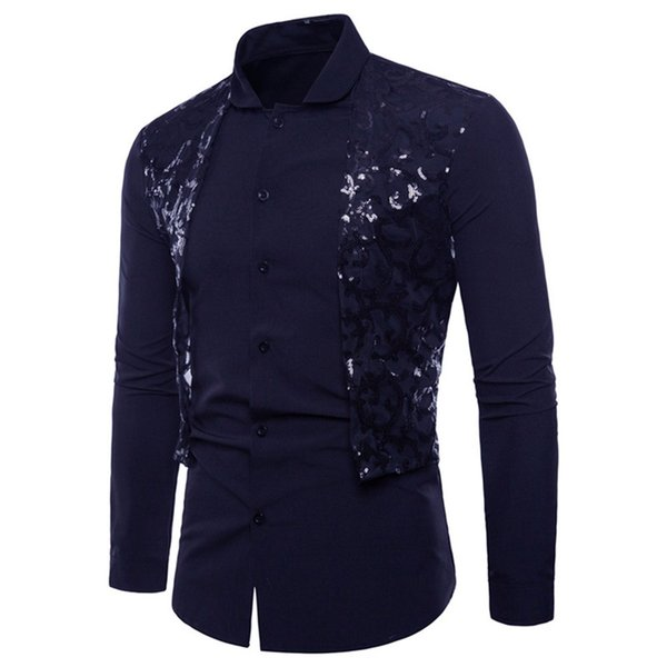New Style Mens Shirt Long Sleeve Oxford Formal Casual Suits Slim Fit Dress Shirts Men Pure Color Blouse Top Males Clothes
