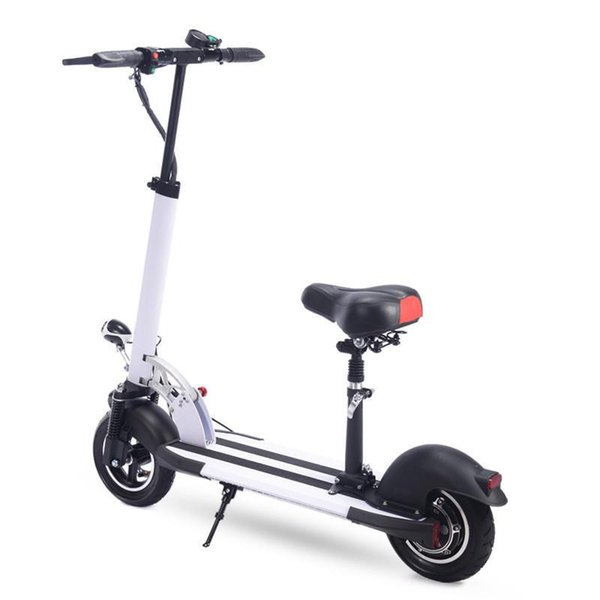 Daibot Electric Scooter For Adults With Seat 10 Inch Two Wheel Electric Scooters 400w 36v Foldable Electric Skateboard White Battery Powered Bicycle