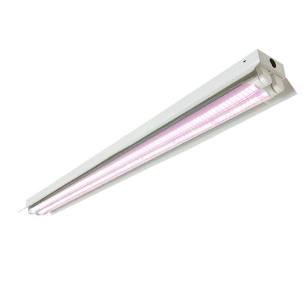 4ft T8 HO LED Licht Leuchte wachsen für Indoor-Gärten Hydroponics - Enthält 2 * 36W T8 HO 4FT LED Röhren - Sun Weiß Rosa Full Spectrum