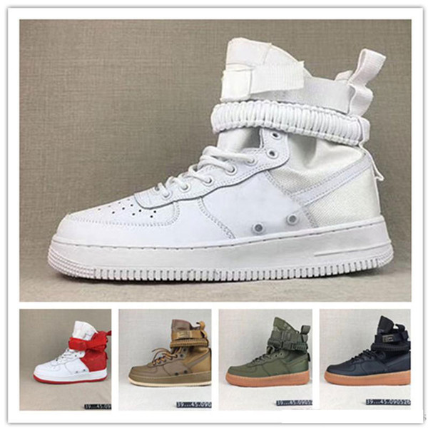 Mens SF Special Forced MID High Top Trainers New Mens SF1 Running Shoes Chaussures Homme Designer Sneakers Size Eu39-45