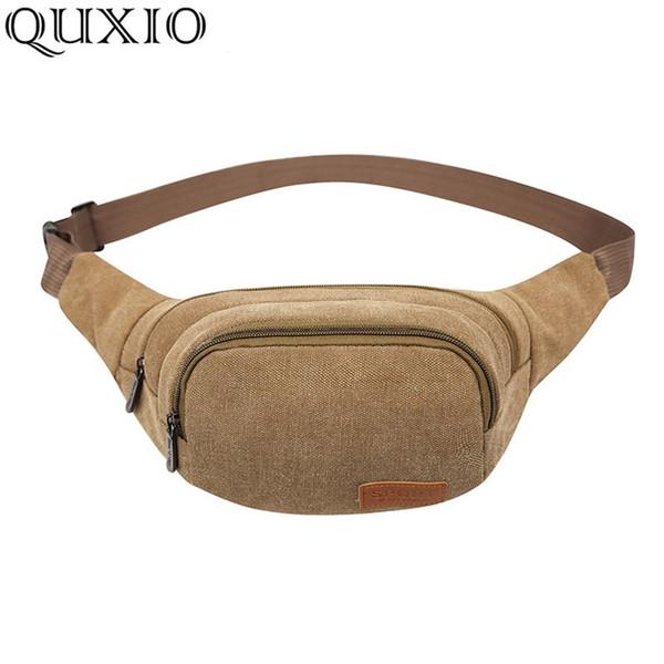 pack belt 2019 New Vintage Men's Canvas Packs Belt Men Fashion Casual Waist Bags Woman Bag Wallet Small