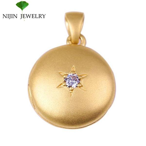 Peadant золота Au750 золотистый для фото и подарка семьи