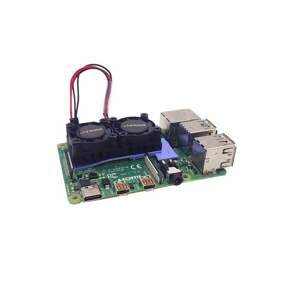 Großhandel 5lot Raspberry Pi 4 Modell B 4B Plus-Dual-Fan für Raspberry Pi 4