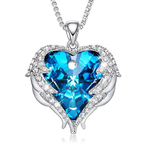 CDE embellished with Crystals from Swarovski Custom Fashion Crystal Jewelry Wedding Love Color Necklace designs Bridesmaid's gift