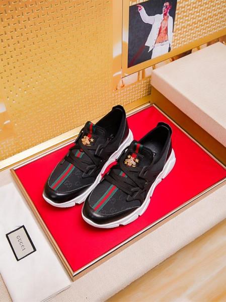 2019q scarpe da uomo nuove di tendenza, sport casual, versatili scarpe basse in pelle, scatola originale da 38-45