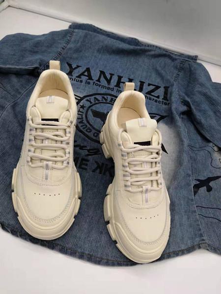 Bayan Rahat Ayakkabılar Lüks Tasarımcı Sneaker Örgü Patchwork Mat Deri Shoes Espadrilles Plaka-forme rx19081701