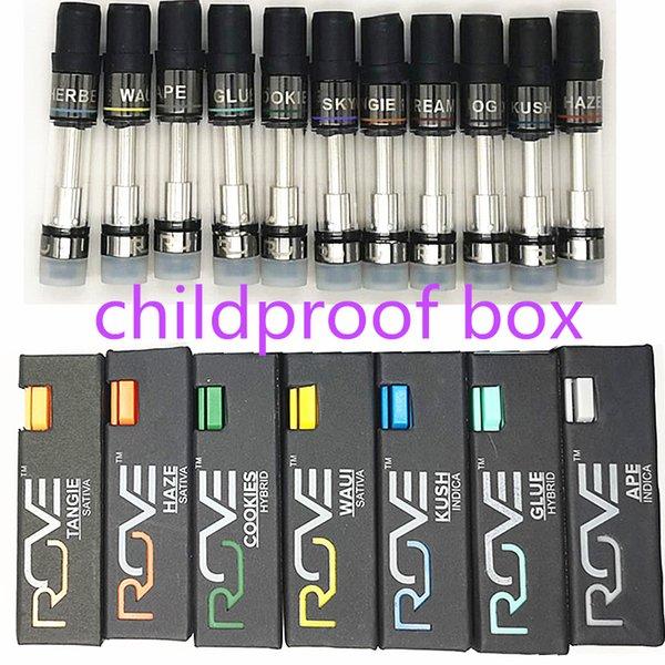 Rove Vape Pens Vape Carts Empty Tank Cartridges Copper Tip Atomizers 0.8 ml Oil Hole 1.6 mm E Cigarette 11 Flavors