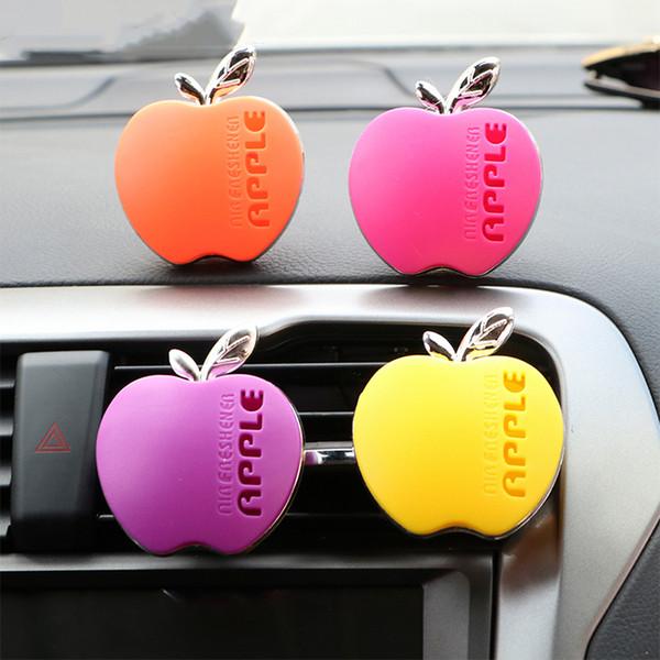 Désodorisant d'Apple Shape Parfum Auto Air Vent Orange, Citron, Fraise Pomme Lavande Parfum voiture Accessoires Dropshipping X1301