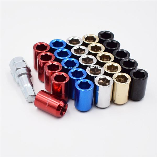 Mazda Mitsubishi STEEL Lug Nuts per ruote in acciaio blu m12x1.5 Honda Toyota Ford