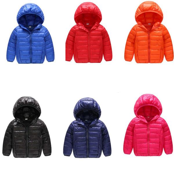 Kids Junior's Down Cotton Coat Brand U&A Designer Wadded Jackets Boys Girls Lightweight Winter Coats Hood Outwear Children Clothing B81302