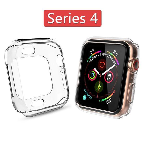 ТПУ чехол для Apple Watch Series 4 40мм 44мм Устойчивый к царапинам защитный чехол бампера для iWatch 3 2 42мм 38мм