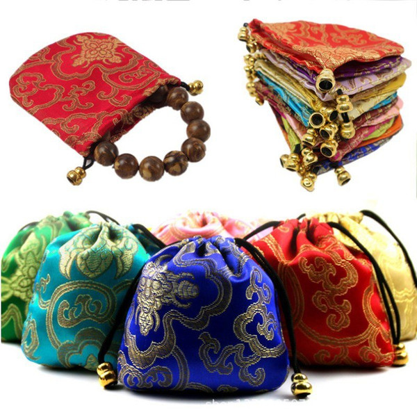 Chinese Style Auspicious Design Storage Bag For Clothing Shoes Underwear Jewelry Organizer Bag Drawstring
