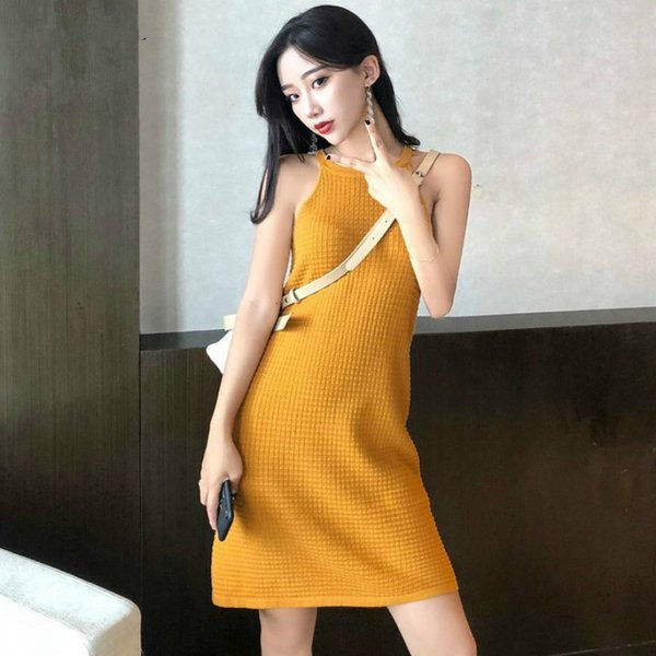 Dress Women Solid Sleeveless O-Neck Clothing Trendy All-match Loose Summer Womens Korean Style Leisure High Quality Drop Shipping