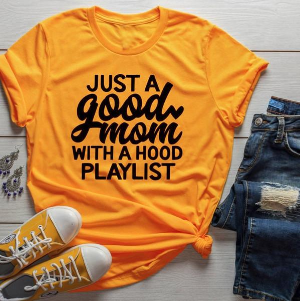 Hood Playlist T-shirt Gift Funny Sogan Grunge Aesthetic Women Fashion Shirt Vintage Tee Art Top Clothing