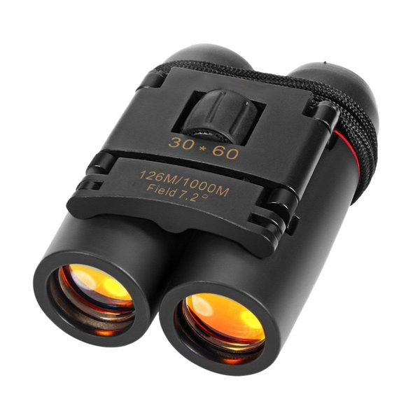Pocket Day Night High Quality High-definition Vision 30 X 60 Zoom Outdoor Travel Folding Binoculars Telescope 126M-1000M