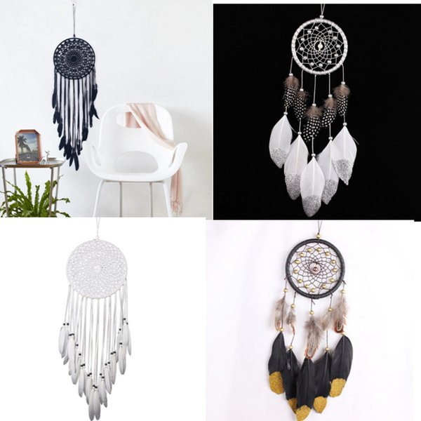 best selling Feather wind chimes dream catcher car decoration Dream Catcher Bed Room Hanging Ornament Craft Gift Home Decoration