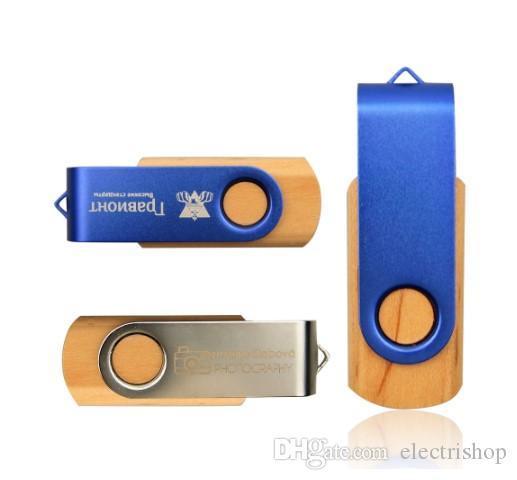 Tina store MapleMetal Clé Mémoire Pendrive 16GB 32GB 64GB 8GB USB 2.0 Flash Pen Drive Photographie Custom LOGO (plus de 30pcs Logo gratuit)