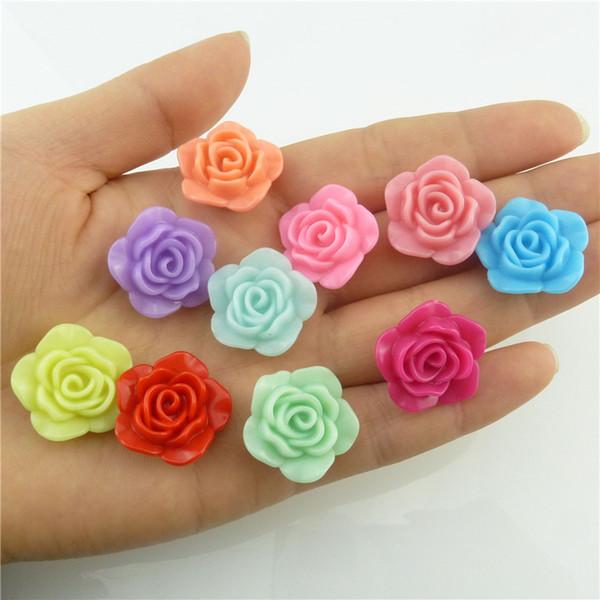 19mm Bonbons En Plastique Acrylique Fleur Forme Entretoise Perles Bijoux en Vrac pour Charms Bracelet DIY Accessoire