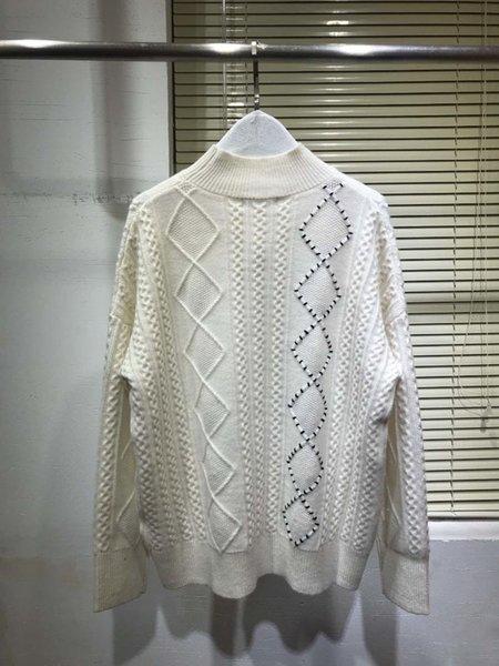 2019 new ladies fashion long sleeve casual diamond twist cashmere sweater 1214