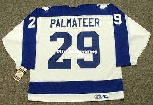 Personalizado Homens MIKE PALMATEER Toronto Maple Leafs 1978 CCM Casa Vintage Barato Retro Hockey Jersey