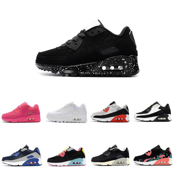 Acheter Nike Air Max 90 2019 Chaussures Pas Cher Pour Enfants Sneakers Presto Chaussures De Sport Pour Enfants Baskets Infant Filles Garçons