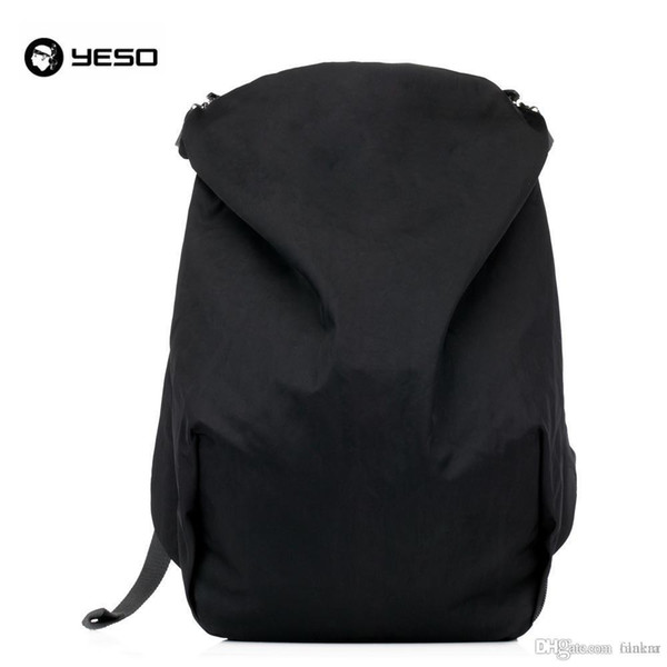 Wholesale- YESO Brand American Style Simple Men's Leisure Black Gray Practical Waterproof Nylon 15.6 Laptop Backpack Travel Back Pack