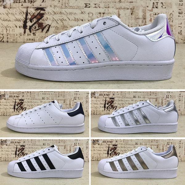 Adidas Holograma Superstars Mujer Junior Blanco Sneakers Superstar Junior Iridiscente Originals Superstar Gold Star Super Hombre Compre Original c3TlF1KJ