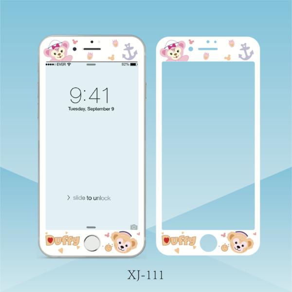 Cartoon Bear Cat Pattern Protector de pantalla de cristal templado para iPhone 6 6 s Plus 7 8 más película antirrayas Película protectora
