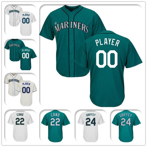 72f432e203a Seattle Mariners Majestic Cool Base Custom Green Baseball Jersey 53 Dan  Altavilla 37 Shawn Armstrong 60