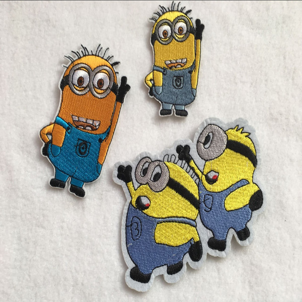top popular 1 piece of embroidered patch iron-on minions pattern appliques diy handwork quilting for patchwork small size decorative accessories cartoon 2020