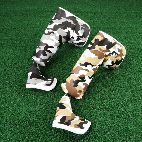 1 set women men golf blade putter club head cover bag camouflage pattern magnetic head covers waterproof pu headcover protector thumbnail