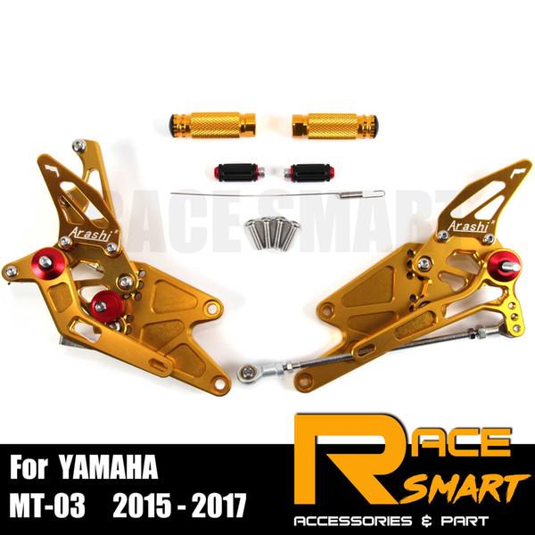 YAMAHA MT03 MT25 MT03 MT25 2015-2017 Repose-pieds arrière Repose-pied Pegs Pédale Accessoires moto CNC réglable Rearset