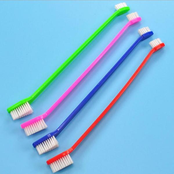 Heiße verkäufe Pet Supplies Katze Welpen Hund Dental Grooming Zahnbürste Farbe Gelegentliche Reinigung kamm Werkzeug 22 cm Länge