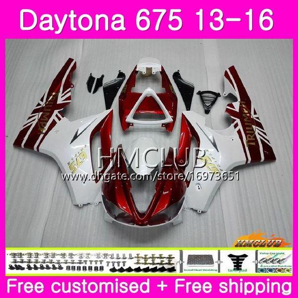 Body kit Para Triumph Daytona 675 13 14 15 16 Carroçaria 45HM.18 Daytona-675 Daytona 675 Daytona675 2013 2014 2015 2016 Vermelho Branco Boas Carenagens