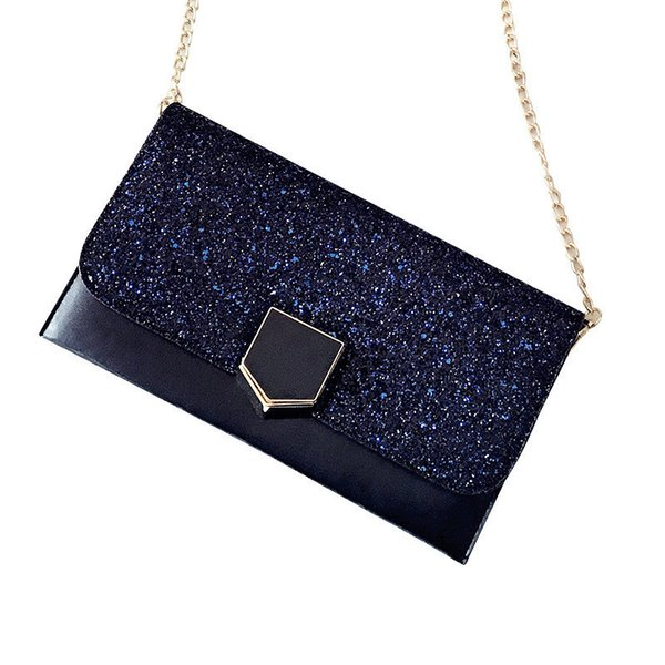 2019 good quality Ladies Day Clutches Women's Bling Sequins Envelope Shape Evening Party Hand Bag For Girls Beautiful Phone Bag