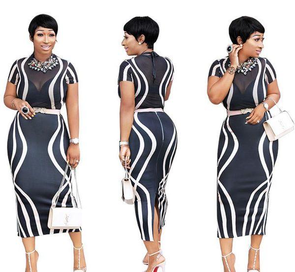 Kadın Yaz Bodycon Elbise O-Boyun Kısa Kollu Bölünmüş Elbiseler Tasarımcı Seksi Kulübü Parti Kadın Elbiseler Moda Kadın Giyim
