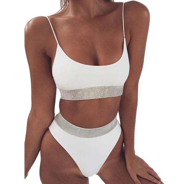 Bikinis 2019 mujer 2019 Vente chaude Maillots De Bain Femmes Solide Bikini Ensemble Push-Up Soutien-Gorge Maillot De Bain Beachwear Plage Cover up Dropping Bikini H