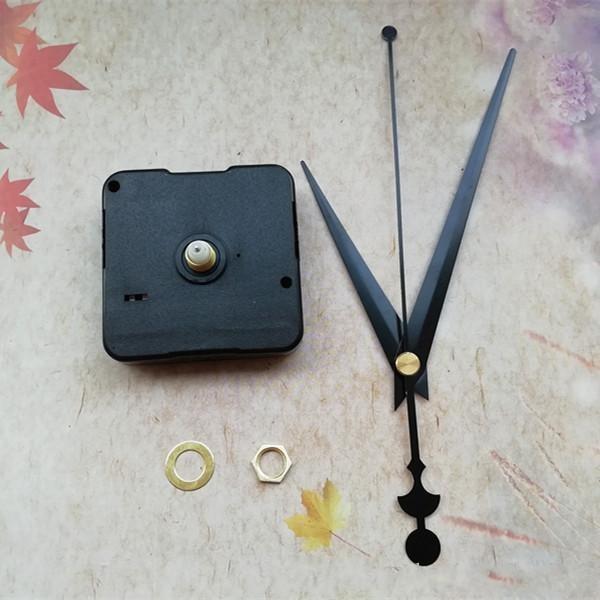 Оптовая 200 ШТ. Развернуть Короткий Вал Кварцевые Часы Движение с Черными Металлическими Руками DIY Комплекты Часов Аксессуары