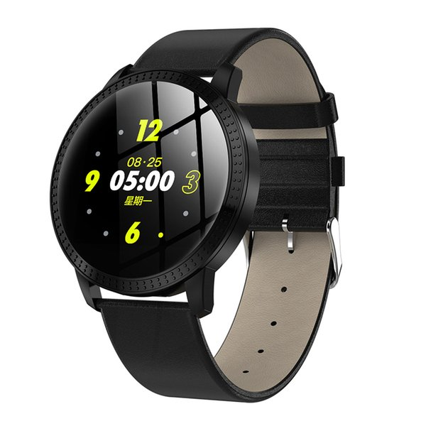 Black with leather band
